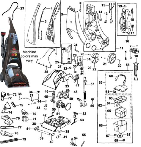 Wiring Diagram For Bissell Vacuum Cleaner by Bissell Proheat Carpet Cleaner Parts Bissell Proheat Parts