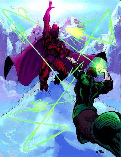 magneto vs green lantern by jonathan rector on deviantart