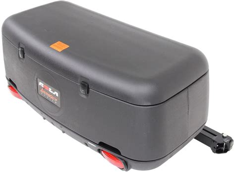 trailer hitch rack rola swinging enclosed cargo carrier for 2 quot trailer hitch