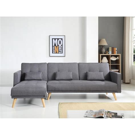 canape d angle reversible convertible scandinave canapé d 39 angle réversible convertible gris