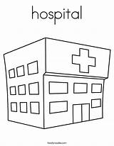 Hospital Coloring Pages Twistynoodle Paper Apartment Ambulance Doll Printable Doctor Outline Wall Printables Built California Usa Emergency Noodle Getcoloringpages Twisty sketch template