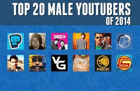 Top 20 Male Youtube Channels Of 2014