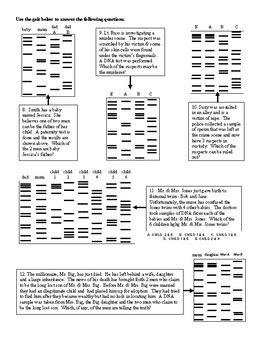Dna Fingerprinting Analysis Using Str Worksheet By Scientific Musings