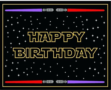 star wars birthday card printable graphic design