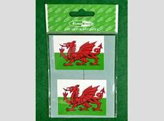 Wales Flag Sticker Welsh Tartan