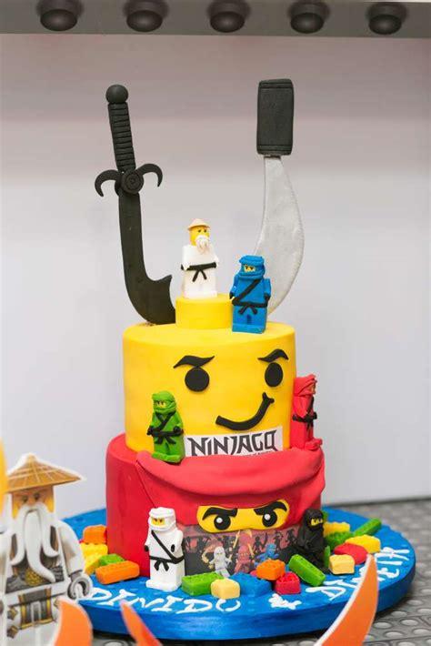 pastel  cumpleanos de ninjago decoracion de fiestas