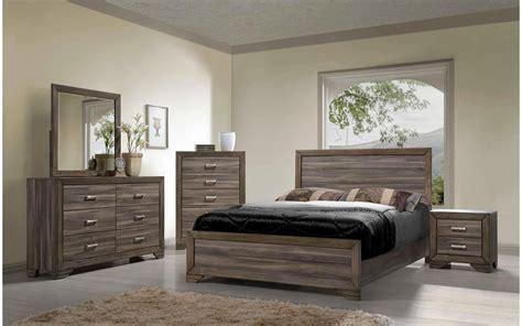 asheville driftwood king bedroom set  furniture place