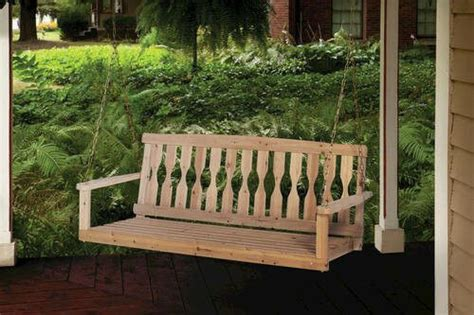 Wooden Porch Swings by Unfinished 4 Ft Wooden Porch Swing Premium Fir Wood