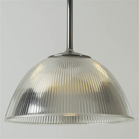 Dome Holophane Pendant Light   Antique Industrial Lighting