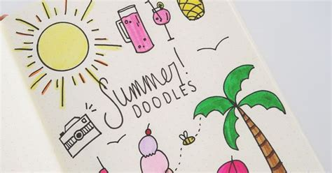 bullet journal summer doodles   doodle tutorial