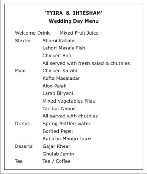 wedding menucard wordingsmenu card wordingswedding