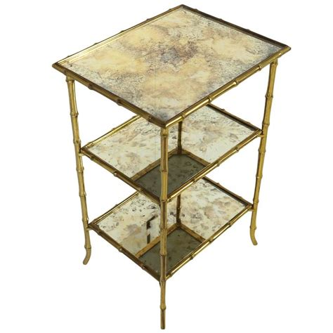 vintage bamboo side table brass bamboo side table maison bagués with original