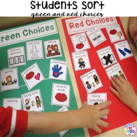 Green And Red Choice Board  Social Emotional  Preschool, Choice Boards, Behavior Management