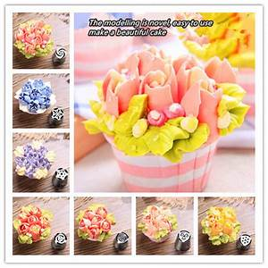 Cooking Tools 7pcs/lot Russian Tulip Stainless Steel Icing