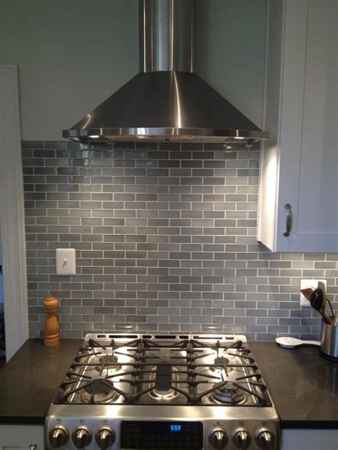 beautiful light gray subway tile backsplash 100 light gray