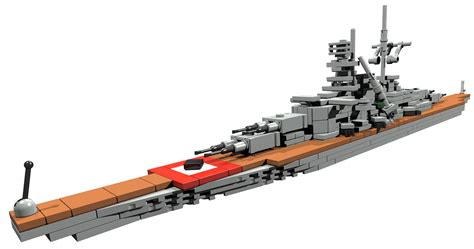 Bauanleitung für Kriegsschiff Bismarck (WW2) Lego