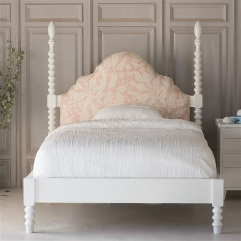 gwenny upholstered spindle bed  footboard