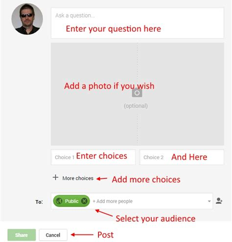 google polls a new google plus feature