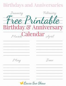 free printable birthday anniversary calendar free With birthday and anniversary calendar template