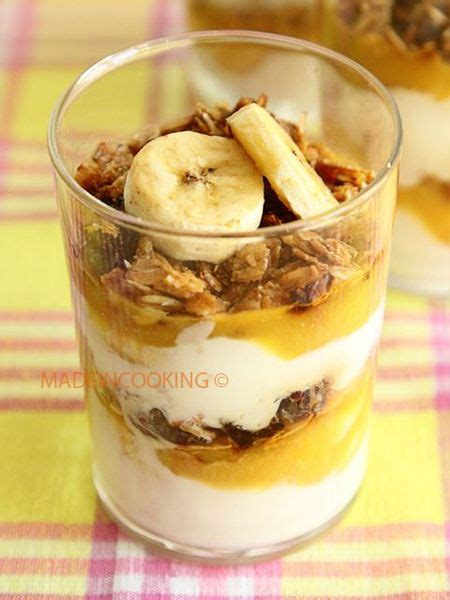 dessert muesli yaourt coco et banane made in cooking
