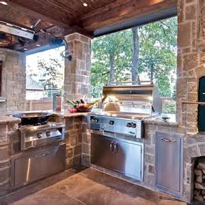 Outdoor Kitchen with Grill and Smoker
