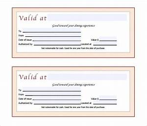 gift certificate template 42 examples in pdf word in With free restaurant gift certificate template