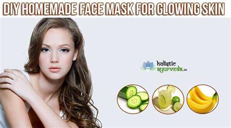 diy natural homemade face mask  glowing skin