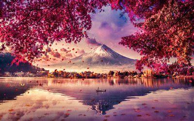 wallpapers mount fuji  autumn mountains
