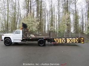 Ford F700 Attenuator Flatbed Crash Barrier Cat 3208 Diesel