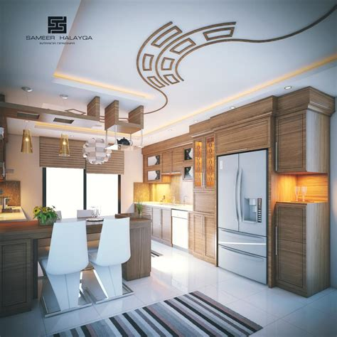 The kitchen ceiling is often forgotten in the scheme of designing your new dream kitchen. 25 Kitchen Decorating Ideas With False Ceiling & lights ...