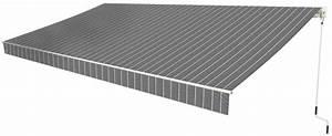 Store Exterieur Brico Depot : store banne manuel toile acrylique grise ray e blanc 300 ~ Dailycaller-alerts.com Idées de Décoration