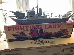 Vintage Remco Toy Fighting Lady Motorized Assault