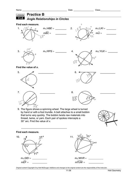 circles angles and arcs worksheet 12 best images of circle arcs and angles worksheets