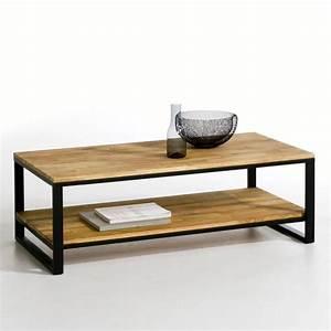 Table Basse Grande Taille : table basse ch ne et acier hiba naturel la redoute ~ Teatrodelosmanantiales.com Idées de Décoration