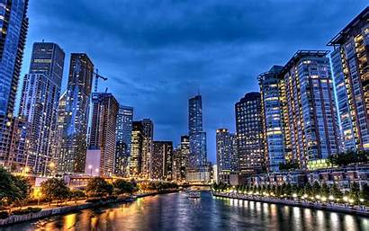 Illinois Wallpapers Chicago States America United 4k