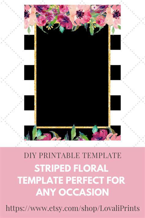 diy printable stripedstripes floral