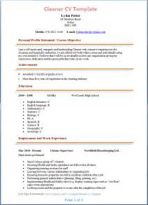 resumes skills and abilities customer service cleaner cv template