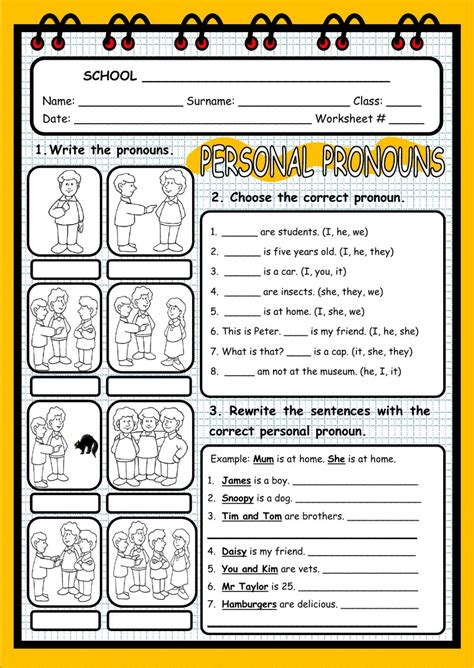 usable worksheet for personal pronouns goodsnyc