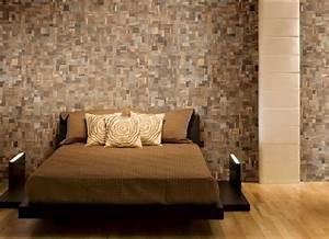 Teak tiles mosaic wood traditional bedroom