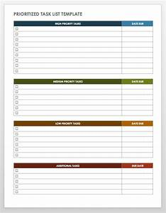 Task template word 15 free task list templates for Time management to do list template