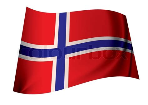 Flag Of Norway Ideal Norwegian Icon In Red White And Blue