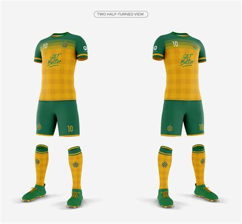 ✓ free for commercial use ✓ high quality images. Men's Full Soccer Team Kit Mockup V2 on Behance