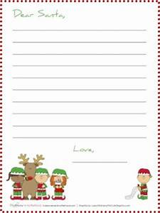 dear santa stationery printables makeovers and motherhood With stationary for letters to santa