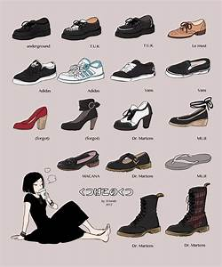 Types of shoes | We Heart It | anime, girl, and shoes
