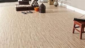 Lino En Dalle : sol vinyle startex bambou miel revetement de sol ~ Premium-room.com Idées de Décoration