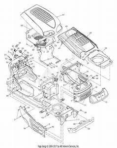 Mtd 13ad608g300  2003  Parts Diagram For Hood  Fuel Tank