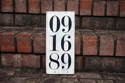 Sign Date Special Signs Anniversary Wooden Signsbyandrea