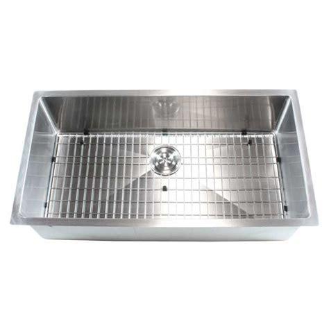 36 in kitchen sink ariel 36 inch stainless steel undermount single bowl 3877
