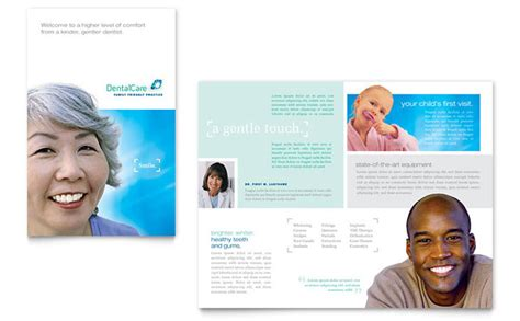 Free Dental Brochure Templates by Dental Care Brochure Template Design