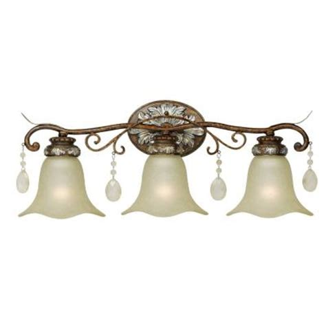 Bronze Bathroom Light Fixtures Home Depot by World Imports 3 Light Oxide Bronze With Silver Bath Bar